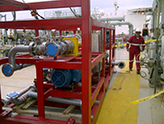 Voraxial produced water separation system arrives in South America.